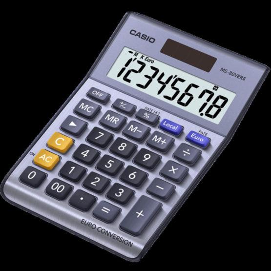 Casio calculator MS-80VER II, Blue