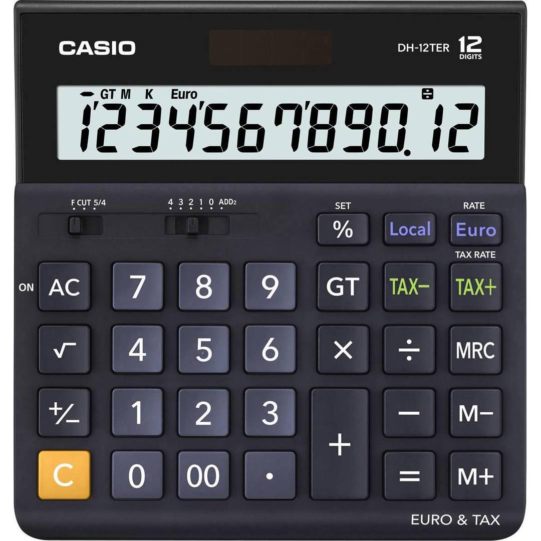 Calculator Casio DH-12TER black