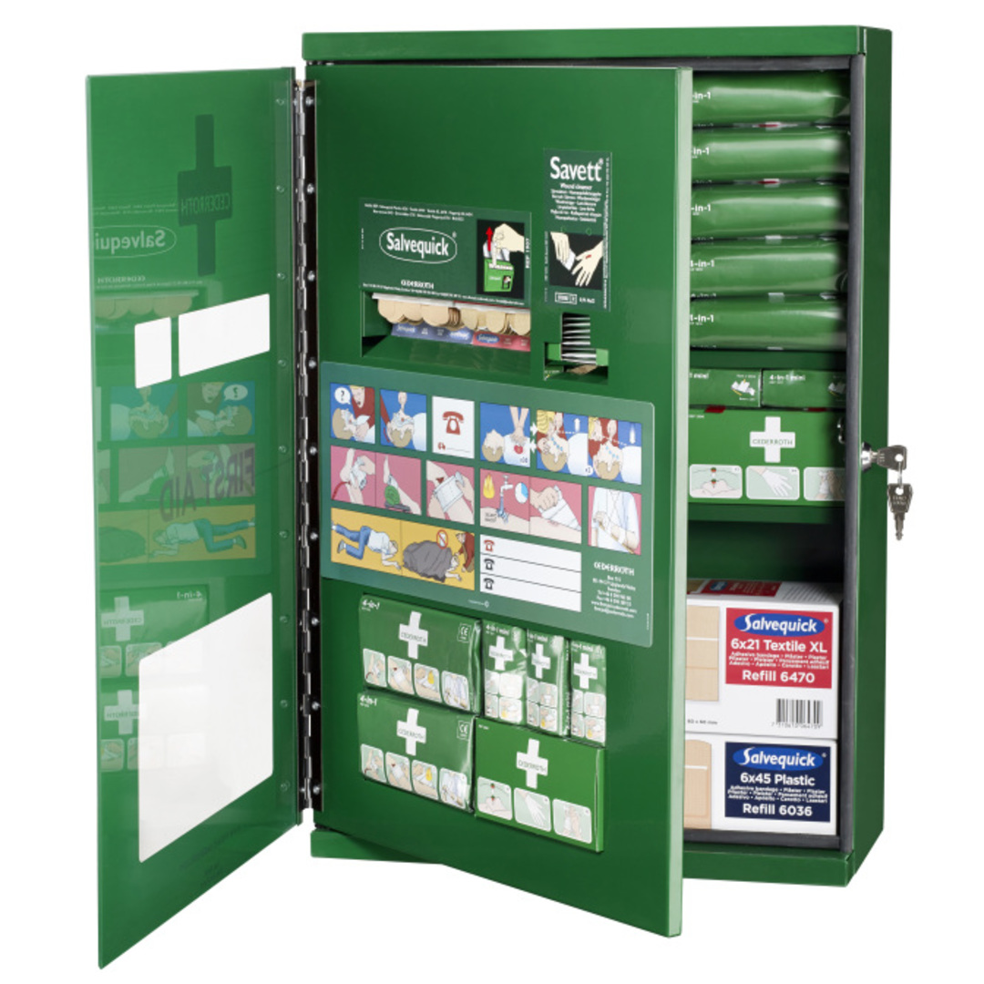 First Aid Cabinet Double Door Cederroth