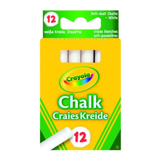 Chalk Crayola white (12)