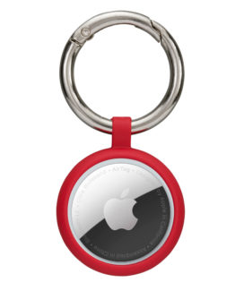 Greenland AirTag Key Ring, Candy Apple Red