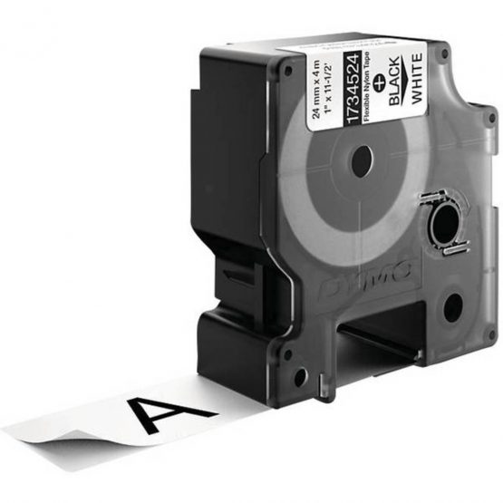 Tape Rhino 24mmx3,5m flexib nylon blk/white