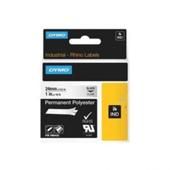 Tape Rhino 24mmx5,5m colour vinyl blk/clear