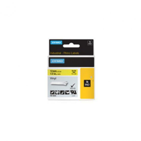 Tape Rhino 12mmx5,5m vinyl black/yellow
