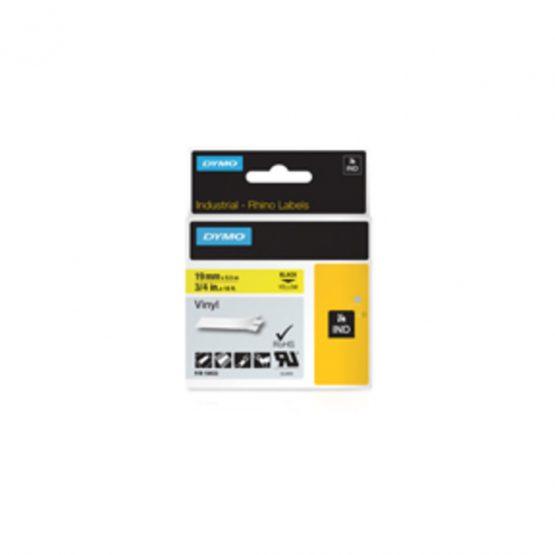 Tape Rhino 19mmx5,5m vinyl black/yellow