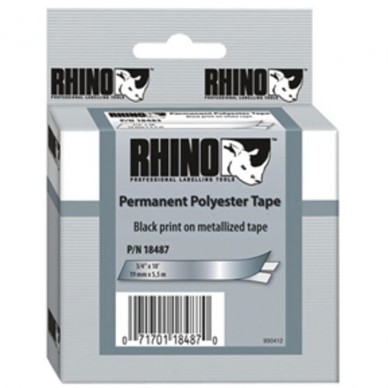 Tape Rhino 19mmx5,5m perm polyest bl/metal