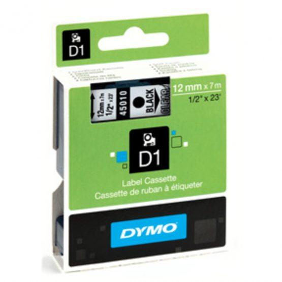 Tape D1 12mmx7m black/clear