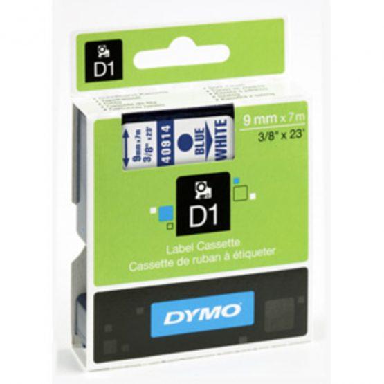 Tape D1 9mmx7m blue/white