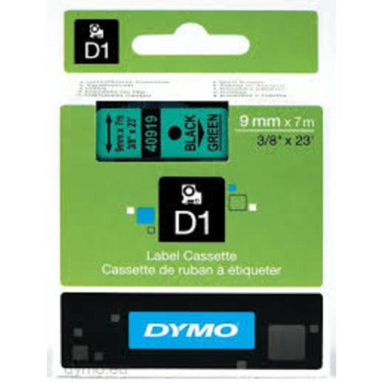 Tape D1 9mmx7m black/green