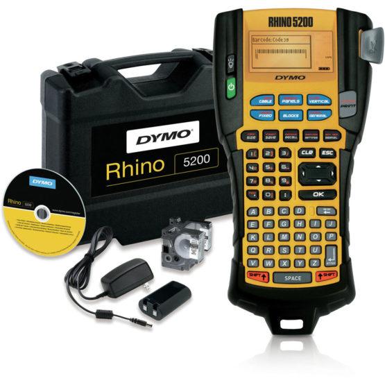LabelManager Rhino 5200 pro machine in hardcase