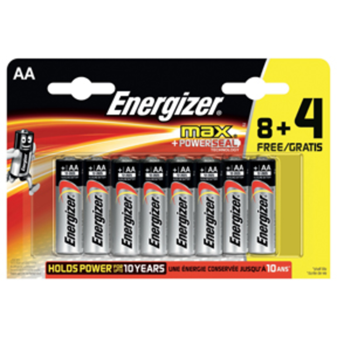 Energizer MAX AA/LR6 (8+4 pack)