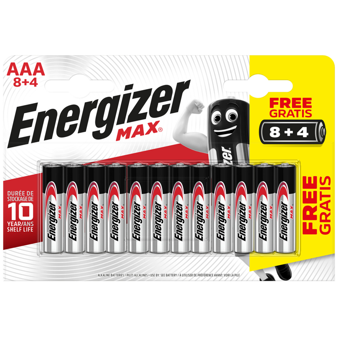 Energizer MAX AAA/E92 (8+4 pack)
