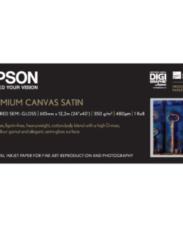 24'' Premium Canvas Satin Roll 350g 12,2m