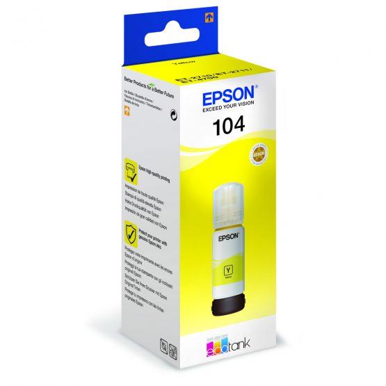 T104 Yellow EcoTank ink