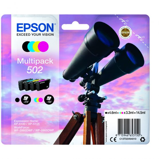 T502 Multipack 4-colours Ink