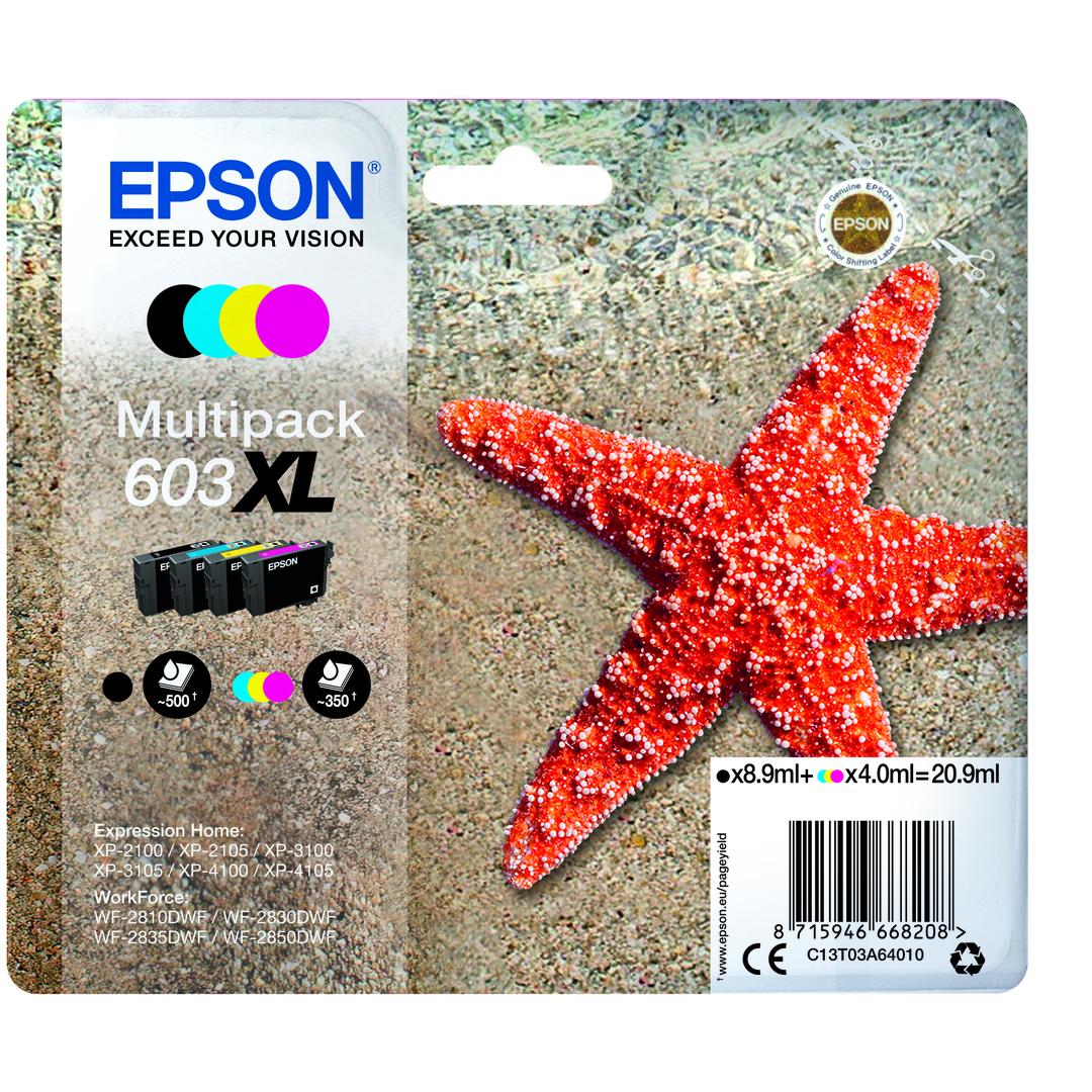 T03U Multipack 4-colours 603XL Ink Cartridge w/alarm