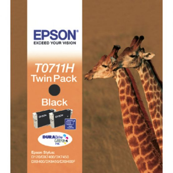 T07114H Black Ink Cartridge (Twin-pack)