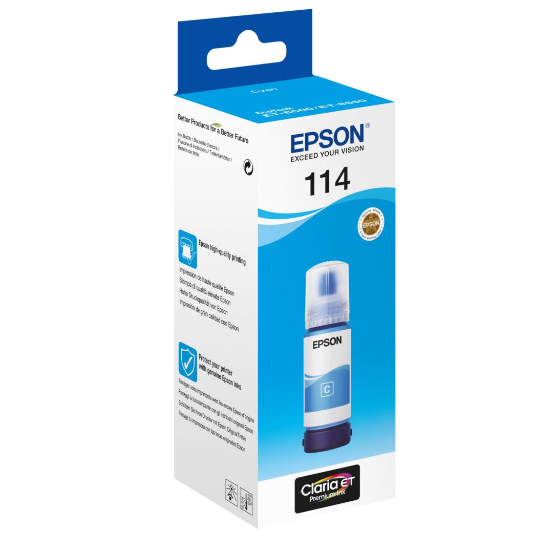 114 EcoTank Cyan Ink bottle