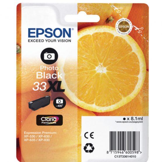33XL Photo Black Claria Premium Ink