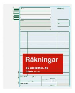 Billing form A5 50 sheets