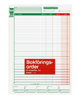 Accounting form A4 50 pcs