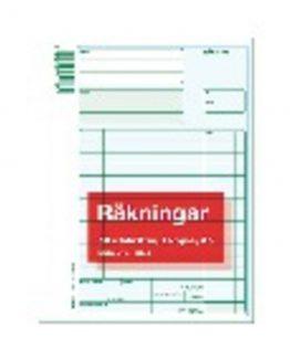 Invoice form A5 2x50 pcs