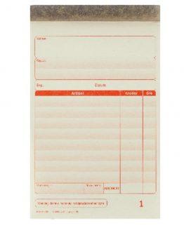 Cash notes form A6 2x50 pcs