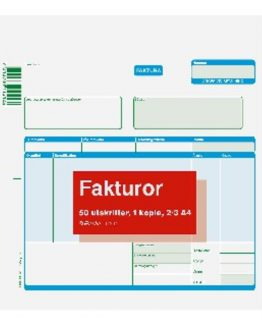 Invoice form 2/3 A4 2x50 pcs