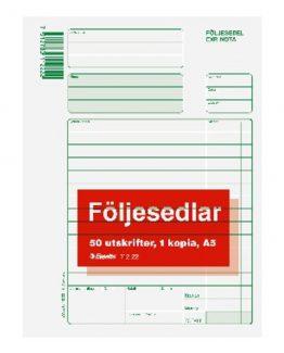 Packing list form A5 2x50 w crown column