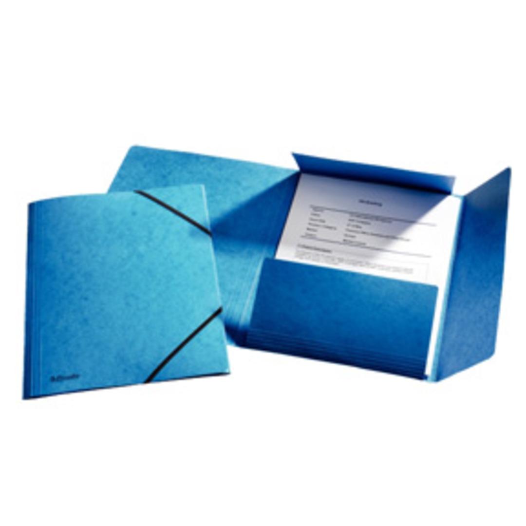 3-flap Folder w/elastic  A4 blue