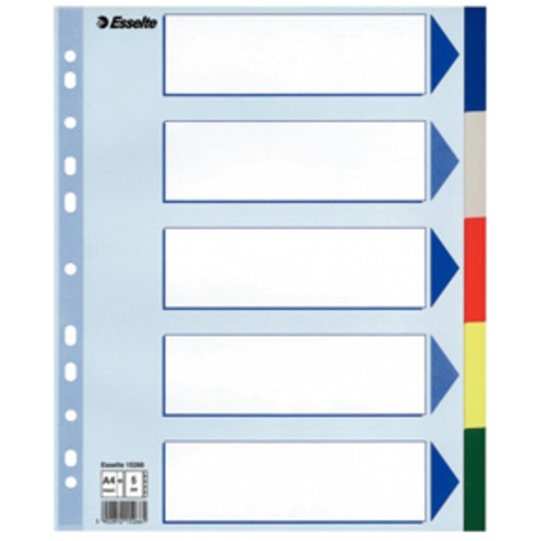 Divider PP A4 Maxi 5 tabs multicolour