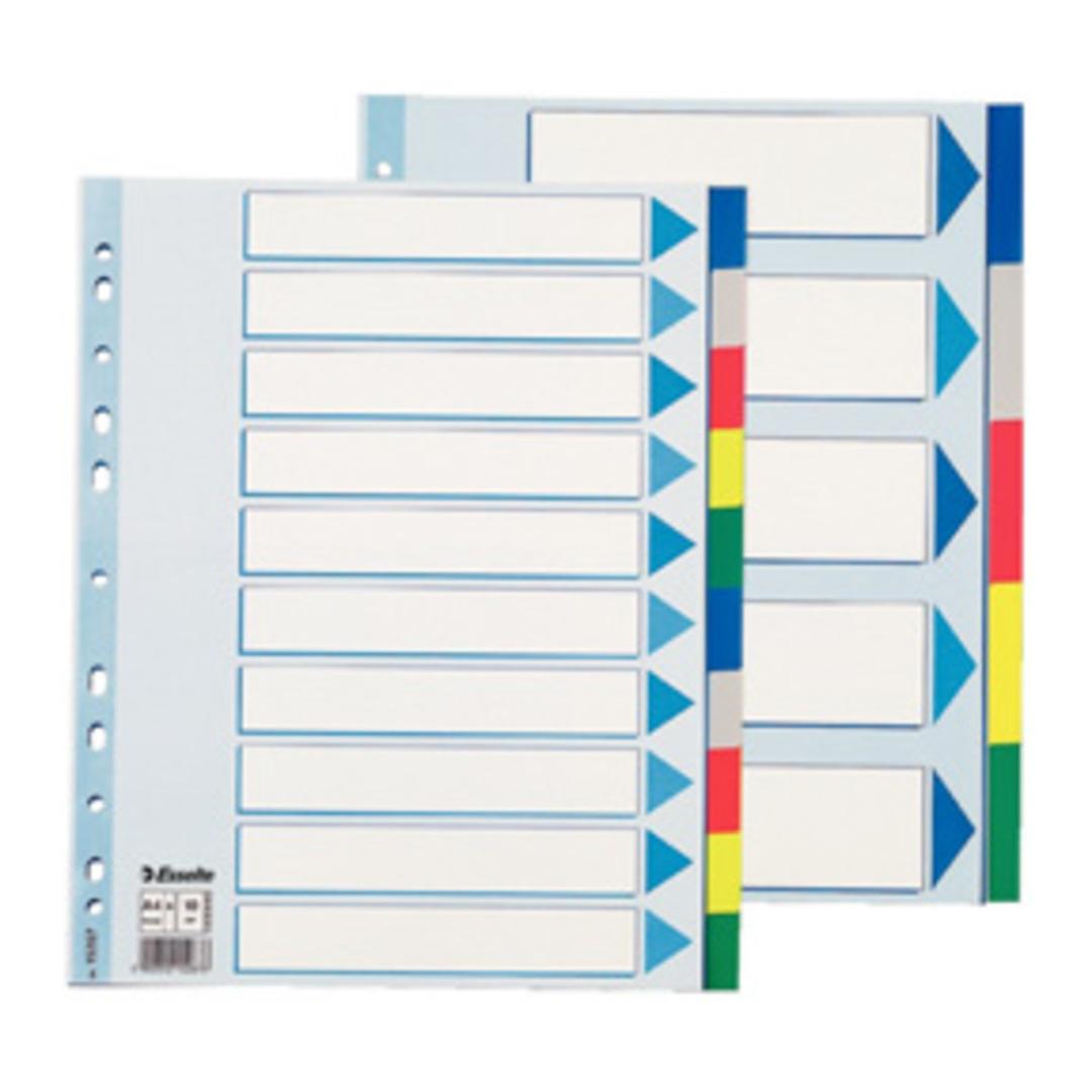 Divider PP A4 Maxi 10 tabs multicolour