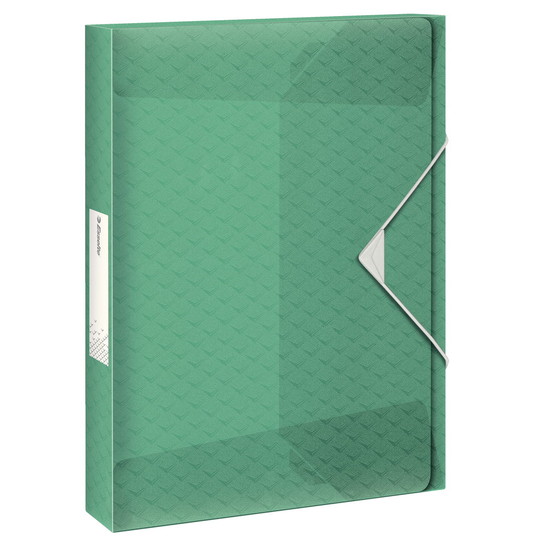 Box File 3-flap Colour'Ice PP 25mm green