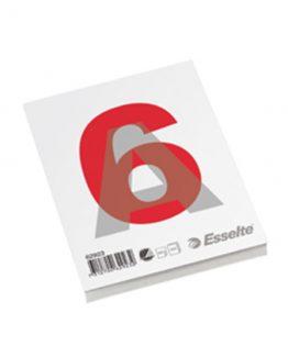 Glued pad A6 60g/100 sheets w/o ruling