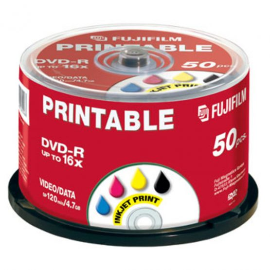 DVD-R 4.7GB 16x Printable Inkjet (50)
