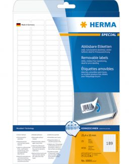 Herma label removable 25,4x10 (4725)