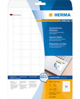 Herma label removable 25,4x25,4 (1650)