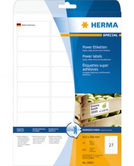 Herma label extremely strong 63,5x29,6 (675)