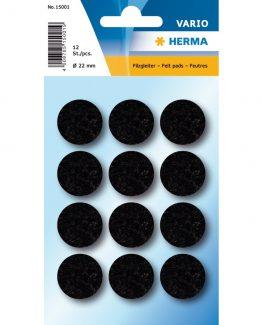 Herma Home protectiv feltpads ø22 black(12)