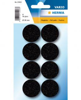 Herma Home protectiv feltpads ø28 black (8)