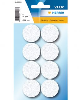 Herma Home protectiv feltpads ø28 white (8)