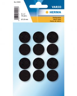 Herma Home hook & loop ø19 black (6)