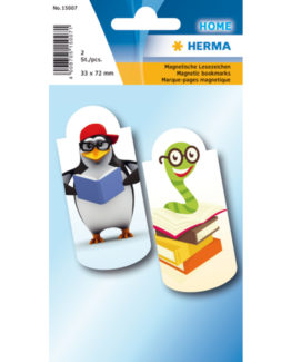Herma bookmark magnetic book worm (2)