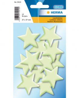 Herma stickers luminous mini stars (12)