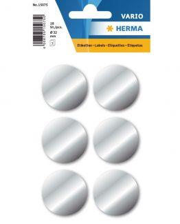 Herma label manuel ø32 silver (100)