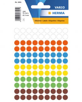 Herma label manuel ø8 assorted (540)