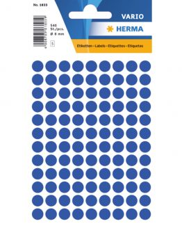 Herma label manuel ø8 dark blue (540)