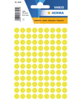 Herma label manuel ø8 neon yellow (540)