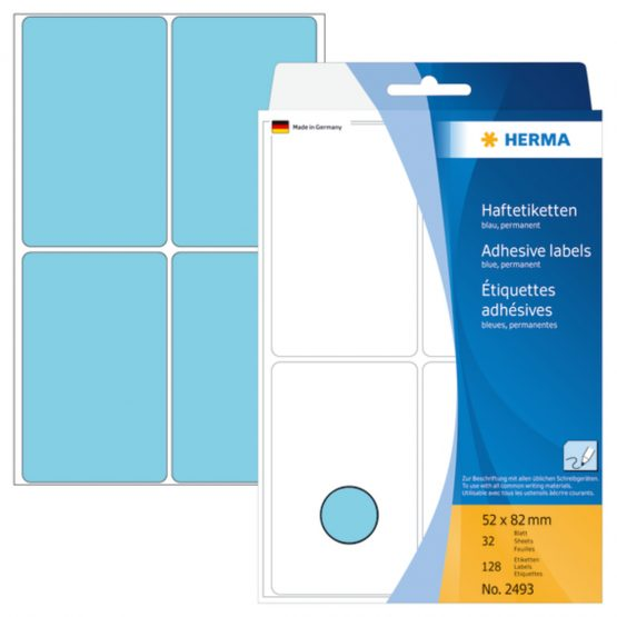 Herma label manual 52x82 blue (128)