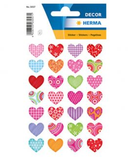 Herma stickers Decor colorful hearts (3)